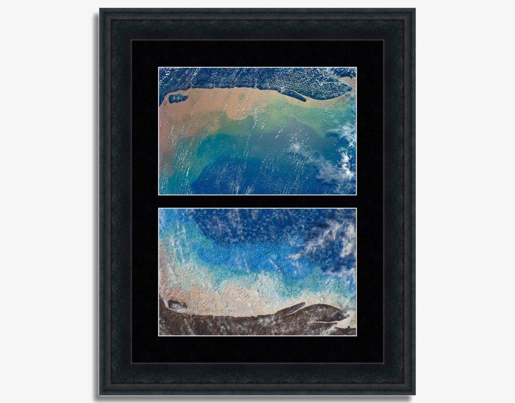 Coast of Brazil, Mirrored Image. Photo & Textile Art